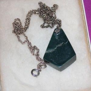 Geometric Stone Necklace Vintage